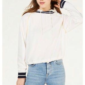 Bungee tie hoodie